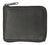 New genuine cowhide leather men's zip around bi fold outside ID credit card flap up bill wallet 1556CF