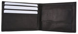 K-100(C)/Children Genuine Leather Flap Up ID Credit Card Holder Coin Pouch Bifold Wallet Kids (C)