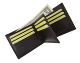 New Cavelio Multi Capacity Middle Flap ID Card Holder Bifold Wallet High Quality Genuine Leather 730052