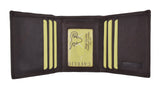 New Cavelio Mens Genuine Leather ID Card Bill Holder Trifold Wallet 731107