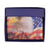 Eagle Flag Men's Genuine Leather Bifold Multi Card ID Center Flap Wallet 1246-14