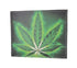 1246-19 Marijuana Leaf Men's Genuine Leather Bifold Multi Card ID Center Flap WalleT