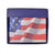 USA Flag Men's Genuine Leather Bifold Multi Card ID Center Flap Wallet 1246-15-[Marshal wallet]- leather wallets