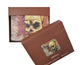 Skull Men's Genuine Leather Bifold Multi Card ID Center Flap Wallet 1246-18-[Marshal wallet]- leather wallets