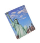 Statue of Liberty Men's Genuine Leather Credit Card ID Holder Trifold Wallet with Middle Flap 1346-17-[Marshal wallet]- leather wallets