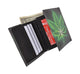 Marijuana Men's Genuine Leather Credit Card ID Holder Trifold Wallet with Middle Flap 1346-19-[Marshal wallet]- leather wallets