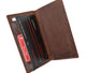 RFID Blocking Vintage Style Genuine Leather Simple Checkbook Cover RFID156HTC-[Marshal wallet]- leather wallets