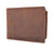 RFID Blocking Vintage Soft Genuine Leather Men's Multi-Card Compact Center Flip Bifold Wallet RFID52HTC-[Marshal wallet]- leather wallets