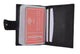 Premium Soft Leather RFID Blocking Credit Card ID Holder with Snap Closure  RFIDP570-[Marshal wallet]- leather wallets