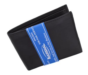 Men's Soft Premium Leather Bifold ID Credit Card Money Wallet P60-[Marshal wallet]- leather wallets