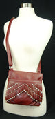 Classic Style Leather Cross Body Bag  Enclosure Zipper Pocket WG 011