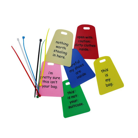 6 Bright Color Travel Luggage Tag VS SKT 007