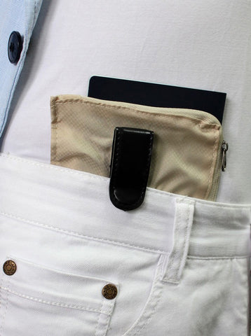 Clip Wallet Safe Front Pocket for Travel VS SKTB 004