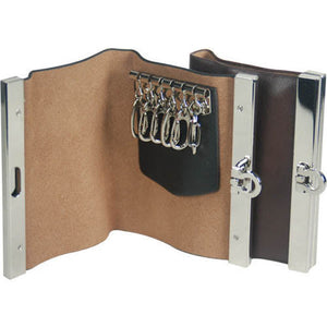 Key Holder 14615 2-[Marshal wallet]- leather wallets