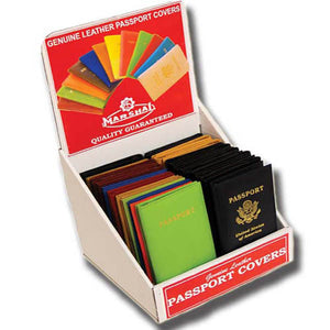 36 Piece Passport Cover Display-[Marshal wallet]- leather wallets