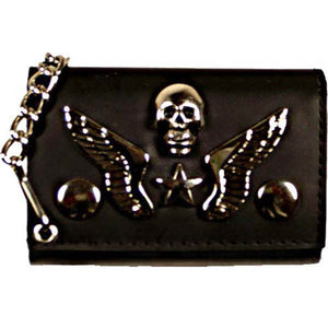 Chain Wallet 1046 7-[Marshal wallet]- leather wallets