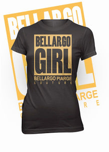 """Bellargo Girl"" Metallic Crew Neck T-Shirt (MORE COLORS AVAILABLE)"