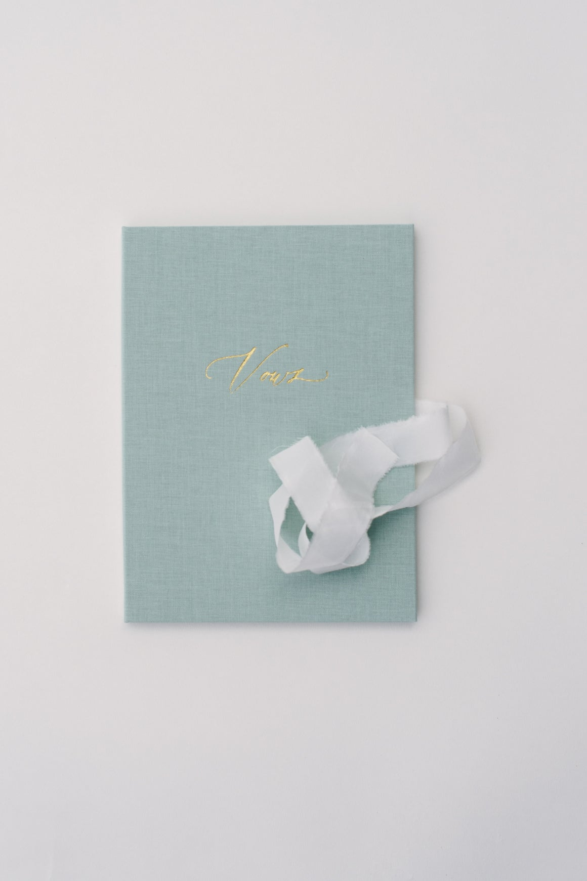 Vows book | Linen Mint