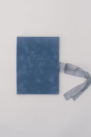 Vows book | Velvet Light Blue
