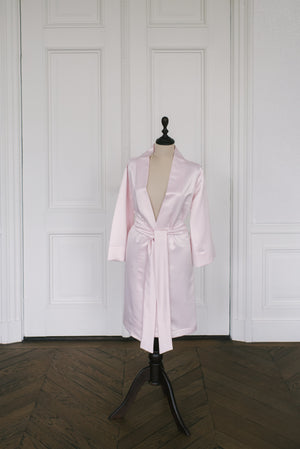 Robe Satin | Old Pink