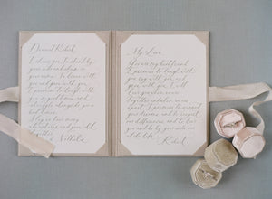 Vows book | Linen Champagne
