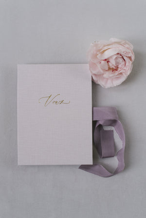 Vows book | Linen Beige Rose