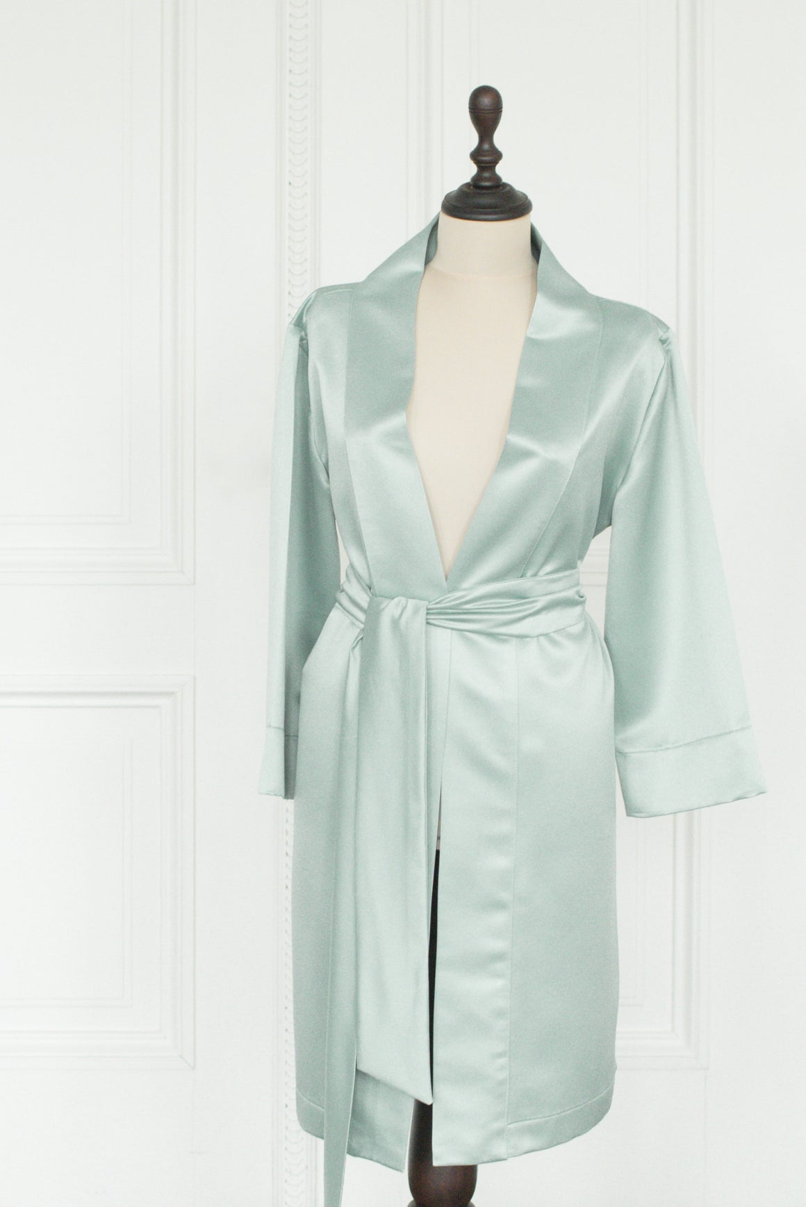 Robe Satin | Green/blue