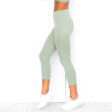 Mint Cropped Fitness Leggings