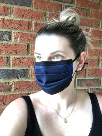 Navy Mask - Adjustable Strap