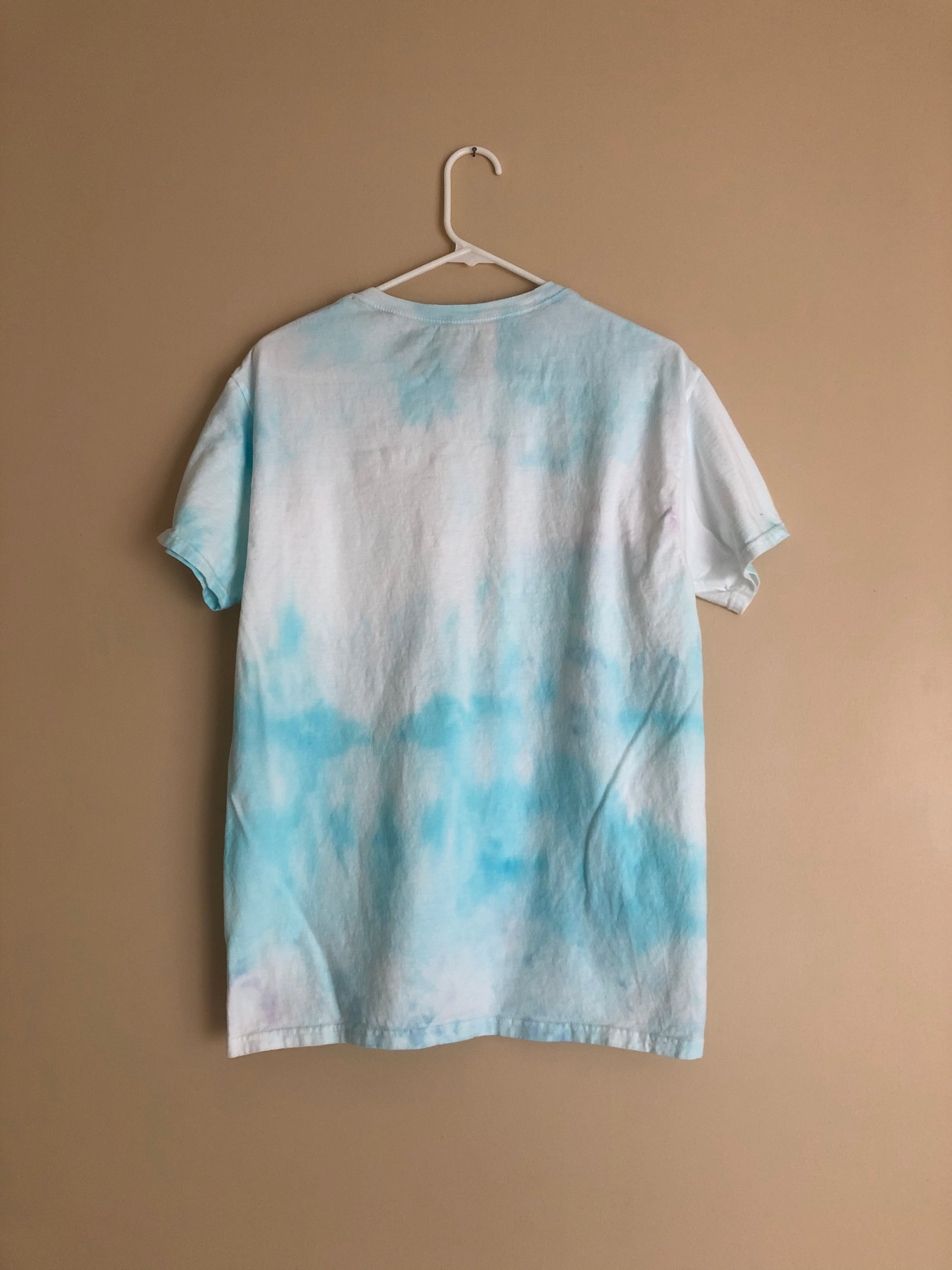 Iced Tie Dye Basic Tee - Blue Clouds - M