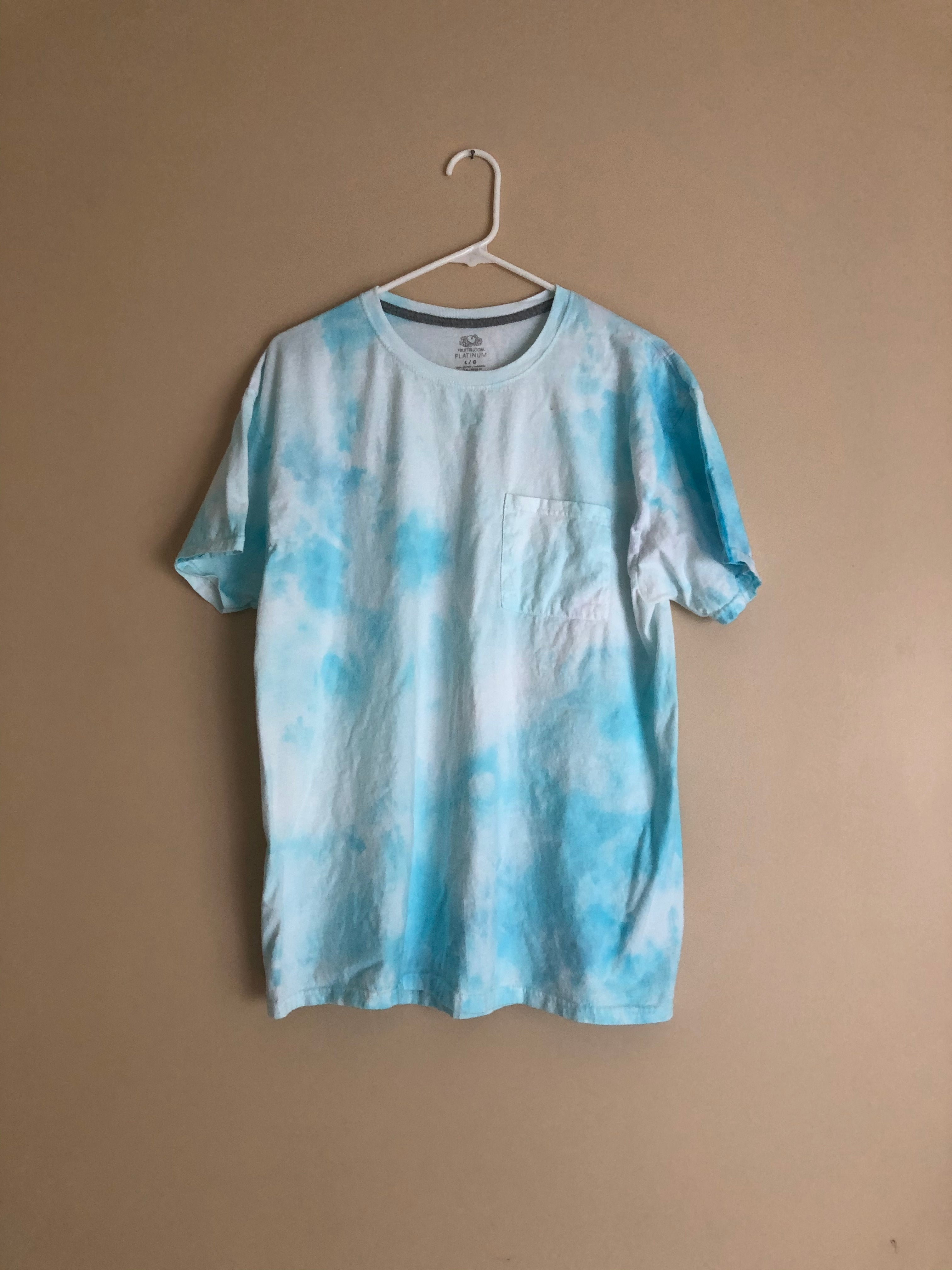 Iced Tie Dye Basic Tee - Blue Clouds - L