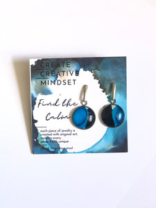 Mantra Earrings Alcohol Ink Jewelry
