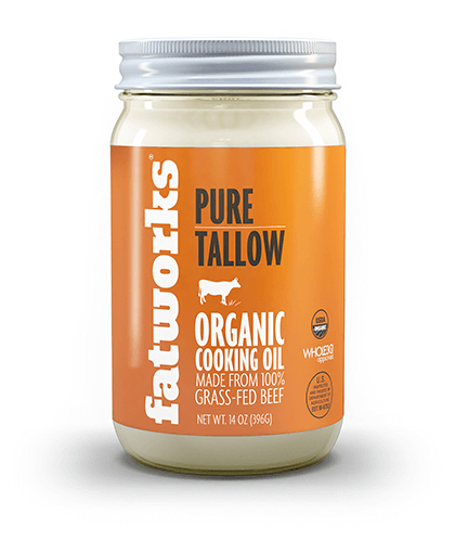 Organic Grass Fed Beef Tallow (14 oz) - Fatworks