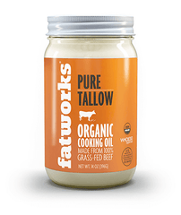 Organic Grass Fed Beef Tallow (14 oz) - Fatworks: The Defenders of Fat!