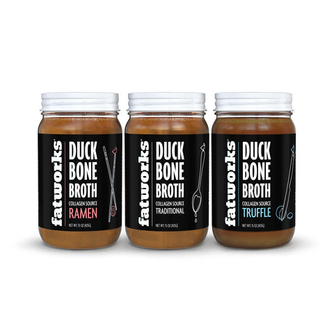 Combo Pack- 3 Pack Duck Bone Broth- Ramen, Traditional, Truffle