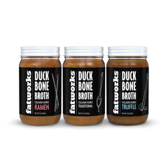 Combo Pack- 3 Pack Duck Bone Broth- Ramen, Traditional, Truffle - Fatworks: The Defenders of Fat!