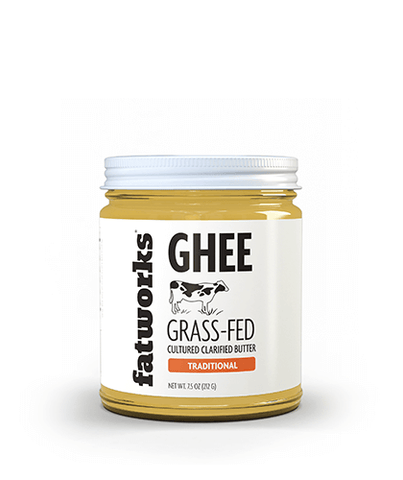 Organic Grass Fed Cultured Cow Milk Ghee (7.5 oz)