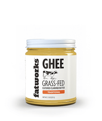Organic Grass Fed Cultured Cow Milk Ghee (7.5 oz) - Fatworks: The Defenders of Fat!