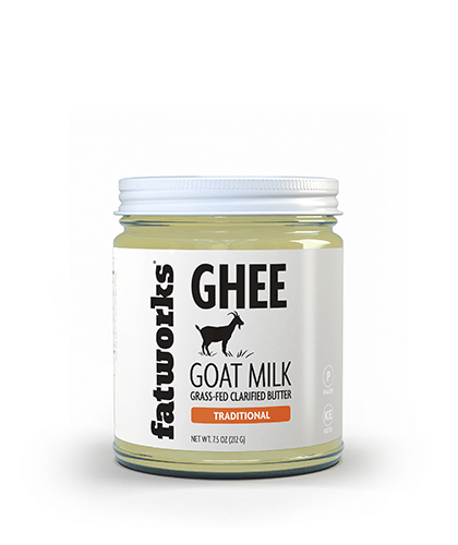Grass Fed Goat Milk Ghee (7.5 oz) - Fatworks