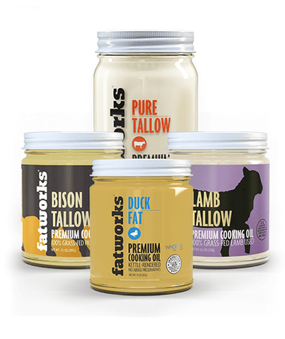 Combo Pack- Grass Fed Bison Tallow & Grass Fed Lamb Tallow & Grass Fed Beef Tallow & Cage Free Duck Fat