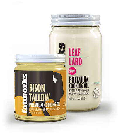Combo Pack- Grass Fed Bison Tallow (7.5 oz) & Pasture Raised Leaf Lard (14 oz)