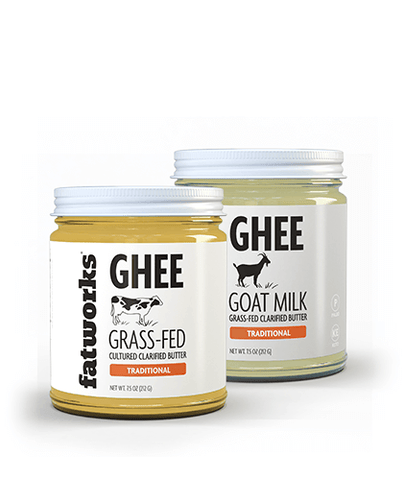 Combo Pack- Grass Fed Goat Milk Ghee (7.5 oz) & Organic Grass Fed Cultured Cow Milk Ghee (7.5 oz)