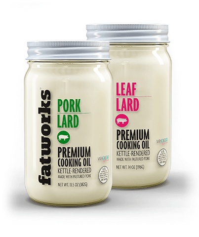 Combo Pack- Pasture Raised Pork Lard (14 oz) & Pasture Raised Leaf Lard (14 oz)