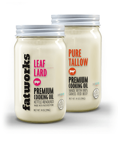 Combo Pack- Grass Fed Beef Tallow (14 oz) & Pasture Raised Leaf Lard (14 oz)