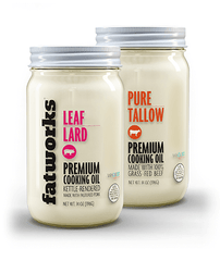 Combo Pack- Grass Fed Beef Tallow (14 oz) & Pasture Raised Leaf Lard (14 oz) - Fatworks: The Defenders of Fat!