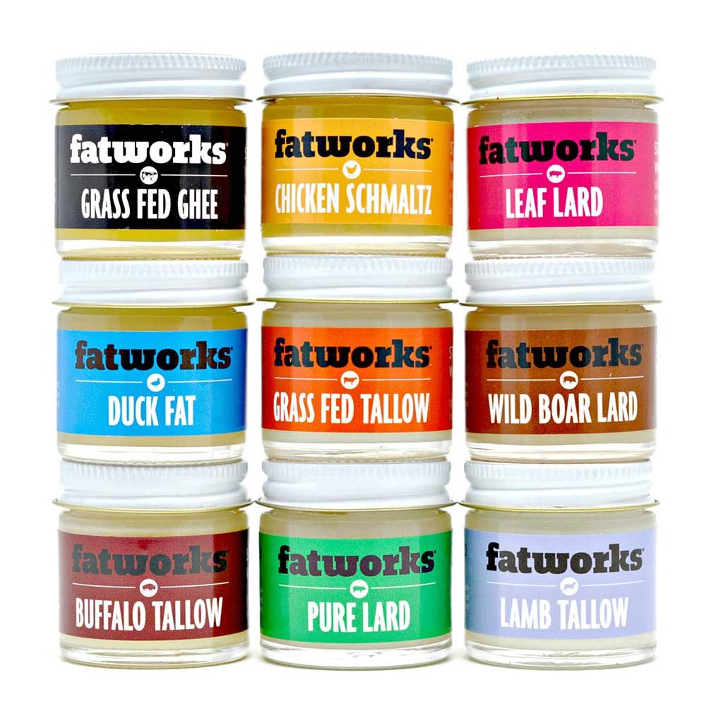 Tiny Tallows and Little Lards (1 oz sample sizes!) - Fatworks: The Defenders of Fat!