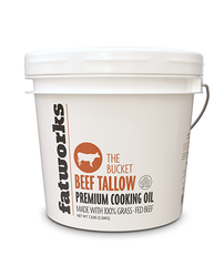 The Bucket- 1 Gallon Grass Fed Tallow - Fatworks: The Defenders of Fat!