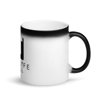 Live Life Full Matte Black Magic Mug