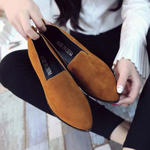 2019 Spring Women Loafers Flats Shoe Women Casual Shoes Suede Slip on Boat shoes Female Shoe Comfortable Ballet Flats Size 35-40 - a.b. kicks