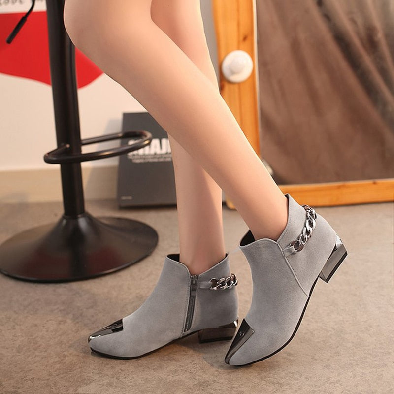 Ankle Boots with Metal - a.b. kicks
